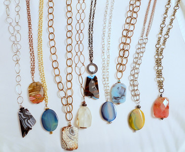BEAD ON A CHAIN - $20 each (this is a sample; exact inventory may change)